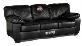 leather couch is a must for the hubbys man cave,but definitely with a Pittsburgh Steelers logo ;)