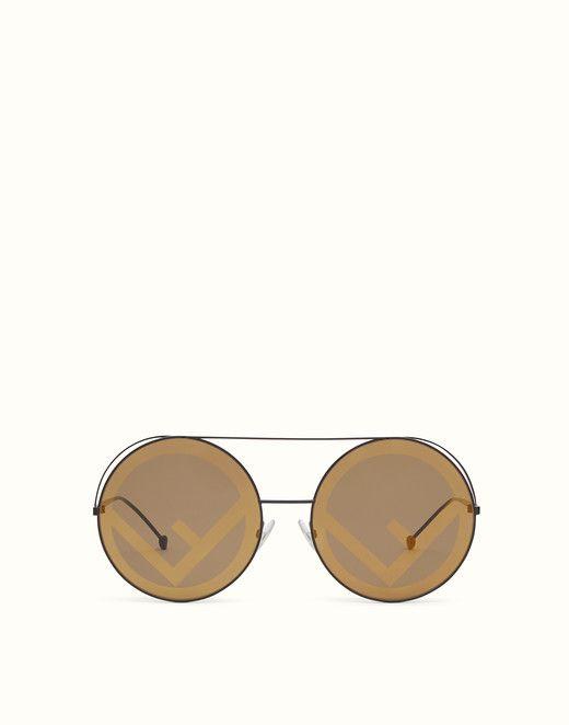 fa4bb877e82 Brown AW17 Runway sunglasses.