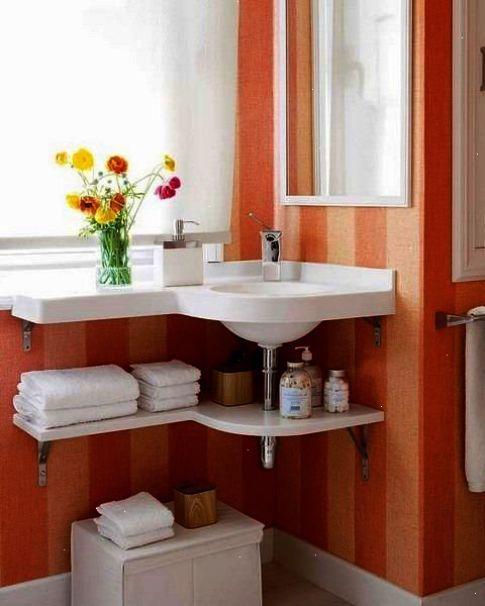 corner sink small bathrooms | Corner Bathroom Sinks ...