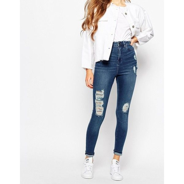 Waven Anika High Rise Skinny Jean (£65) ❤ liked on Polyvore ...