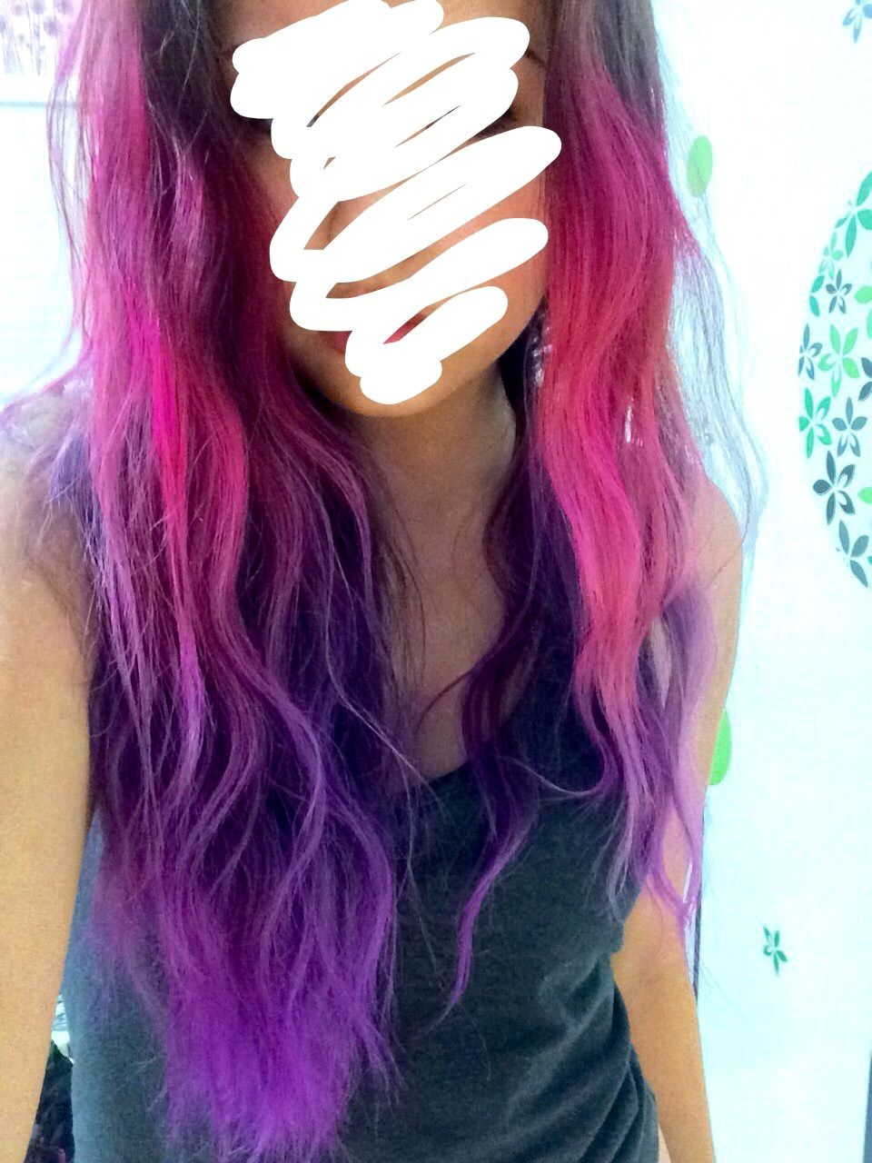 Ombre Hair Tumblr Blue And Pink Hot Pink Ombre Hair Tu...