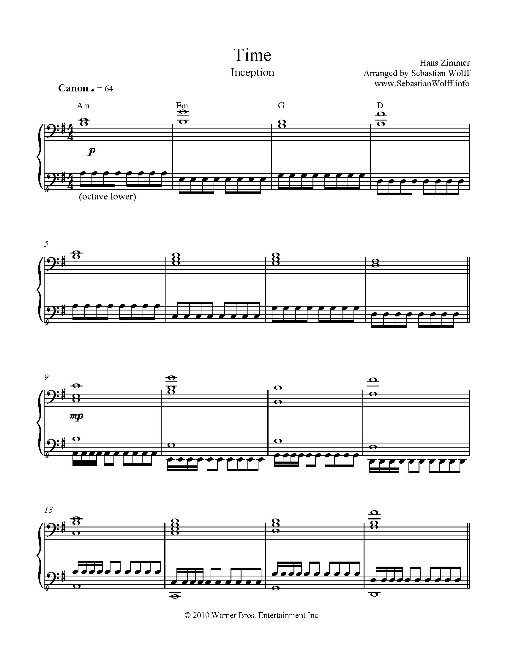 Time sheet music music pinterest sheet music hans zimmer pianos hexwebz Gallery