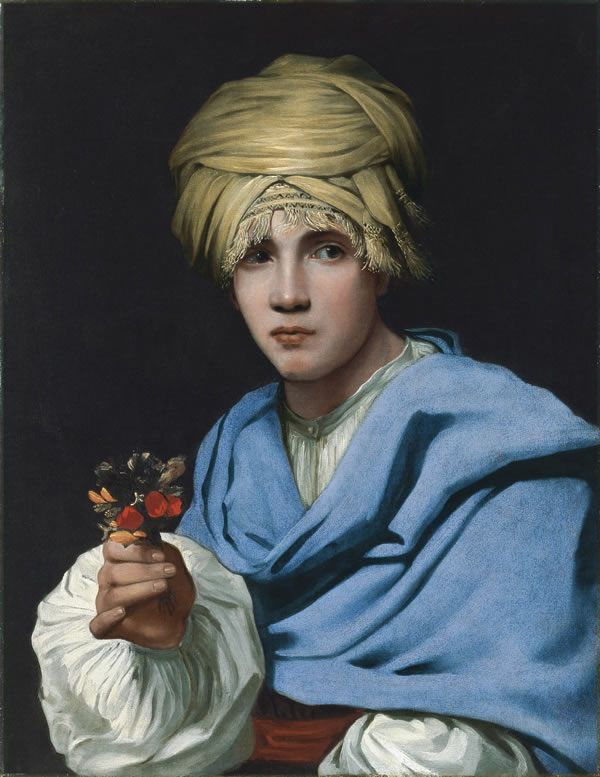 Micael Sweerts, A Boy Wearing a Turban and Holding a Nosegay