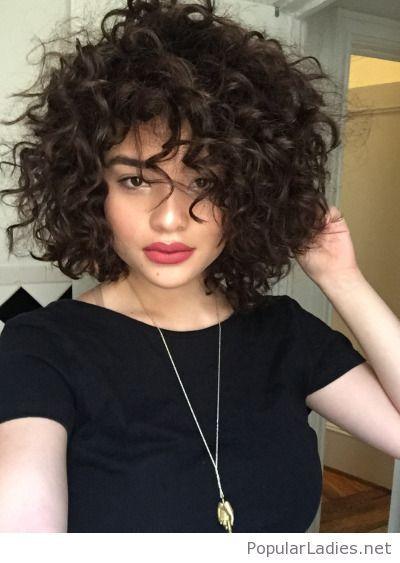 Very Curly Hair And A Simple Black Tee Hair Styles Thick Hair Styles Curly Hair Styles