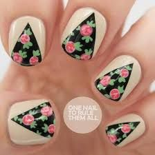 Resultado de imagen para uas tumblr hipster uas pinterest rose curtains nail art five color colour design the nude base colour is barry m lychee and the black is china glaze liquid leather the pink is barry prinsesfo Choice Image