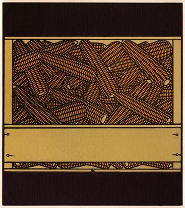 #224, Box of Corn, linocut by Jacques Hnizdovsky, 1976