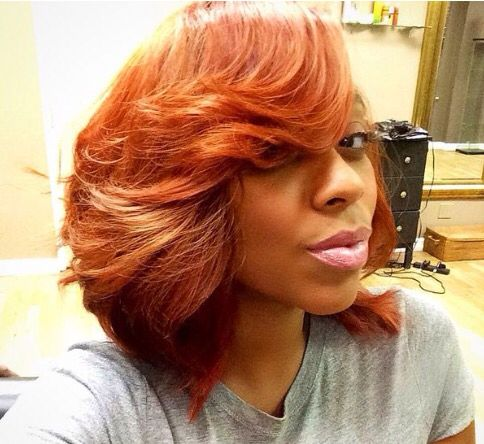 Auburn Colored Bob Can You Rock It Hair Natural