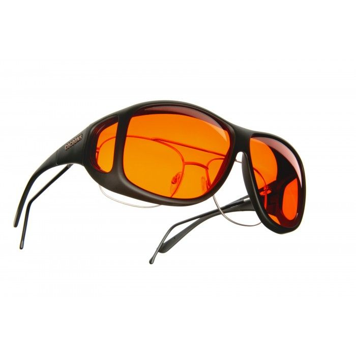 405298a3c9 Cocoons Low Vision (Aviator XL) Soft Touch Black Orange