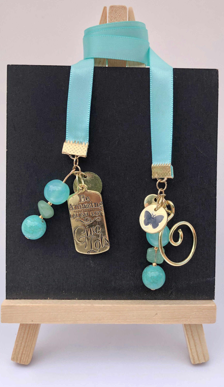 Jade And Gold Beaded Traveler S Notebook Bookmark S