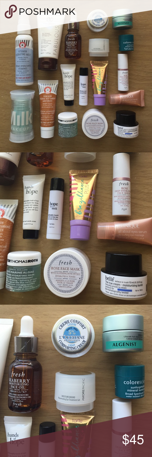 17 designer skincare items All items are new and unused