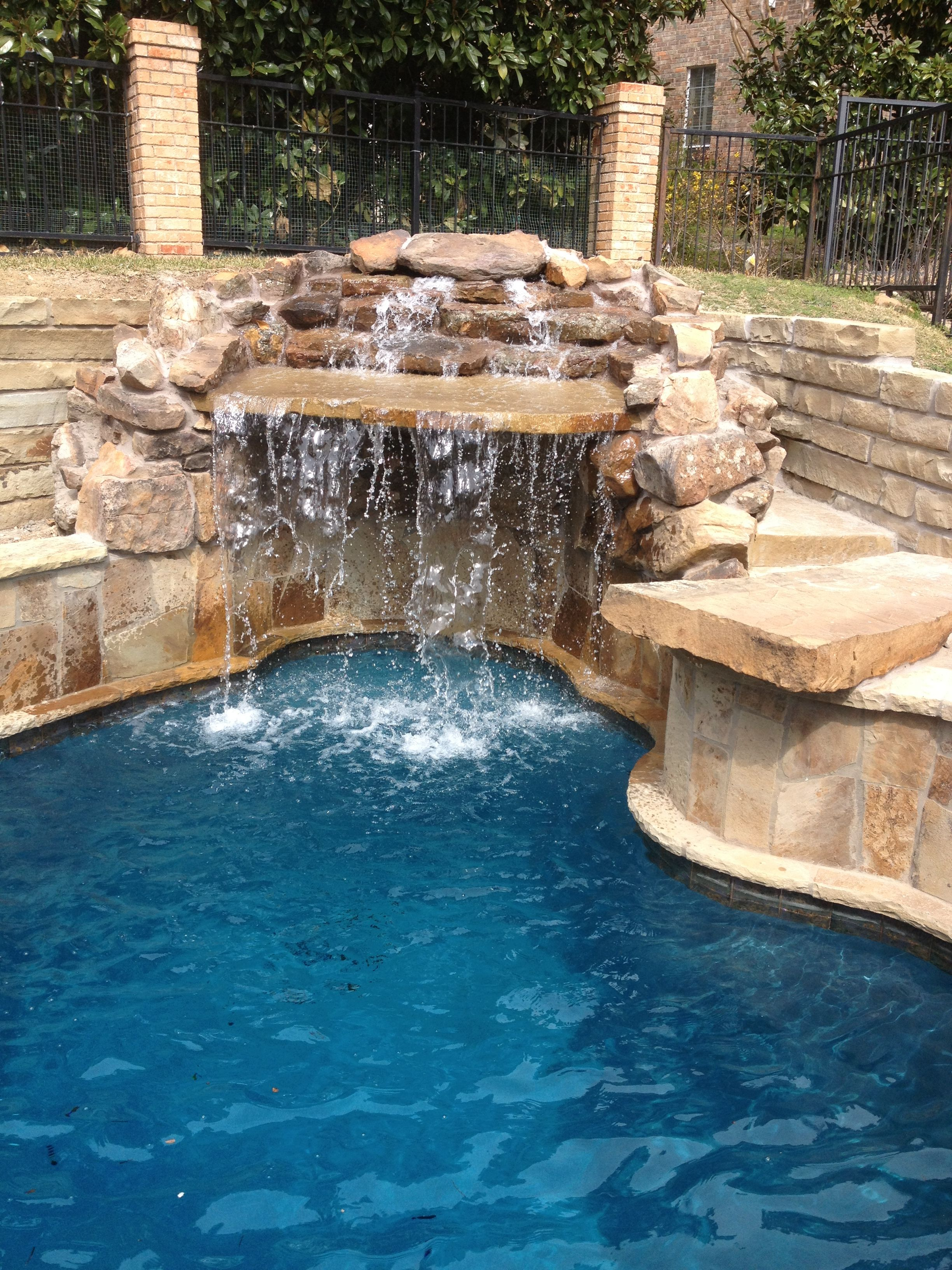 Large grotto water feature.   Fire and Water Features   Pool ...