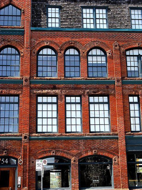brick facade office buildings toronto canada and bricks