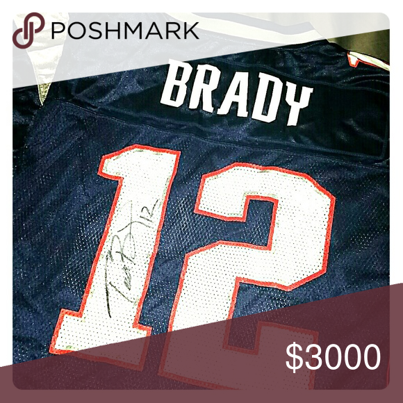 AUTHENTIC TOM BRADY SIGNATURE JERSEY | Tom brady signature, Tom ...