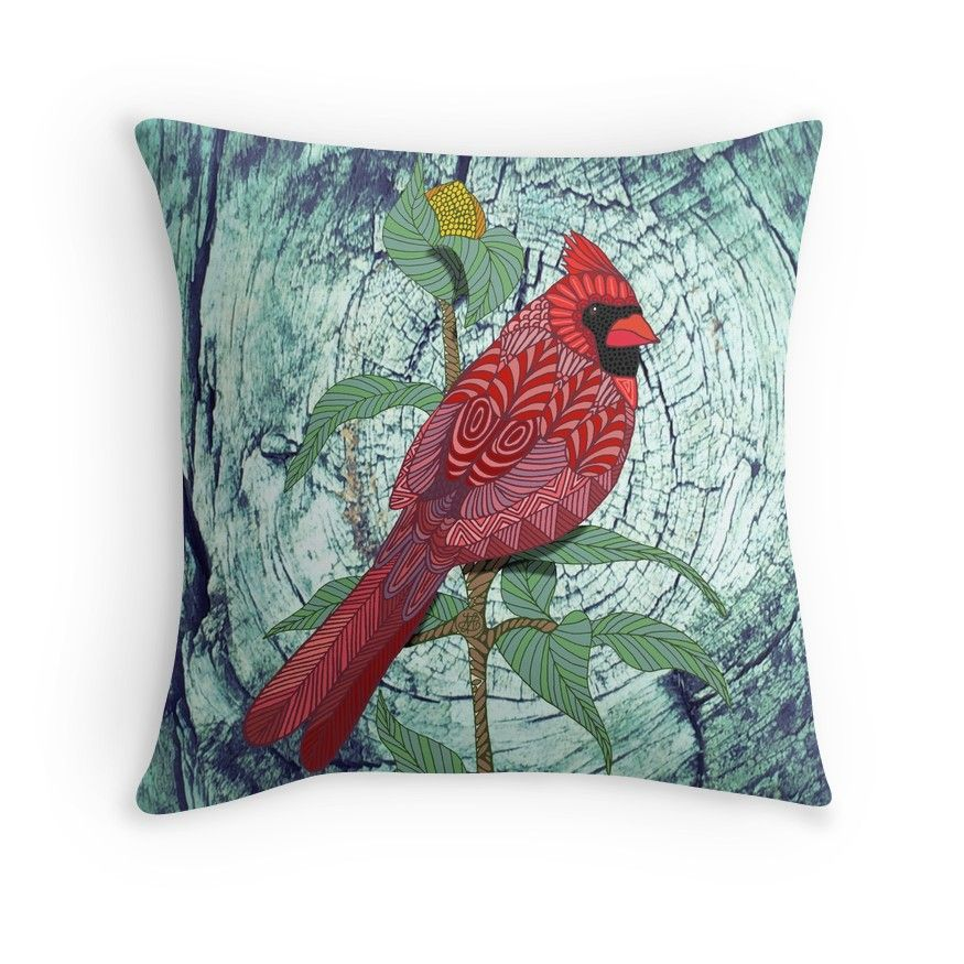 Virginia Cardinal' Throw Pillow by