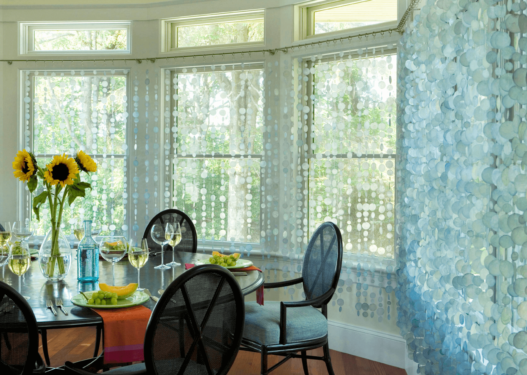 Modern window treatment ideas - Capiz Shell Curtains Modern Window Treatmentsmodern