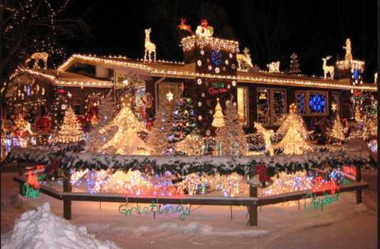 The Christmas Lights Map for around Edmonton yeg