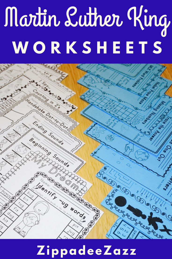 Worksheets for Martin Luther King ELA Literacy and Math Activities ...