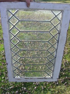 Antique Vintage Beveled Leaded Glass Window Clear Glass Leaded Glass Windows Leaded Glass Window Stained