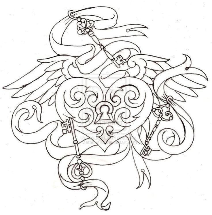 key to my heart tattoo by metacharis coloring pages coloring