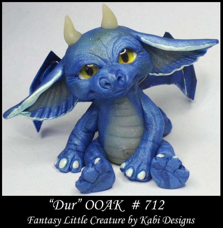Fantasy Little Dragon DollHouse Art Doll Polymer Clay CDHM OOAK IADR Dur Mini #KabiDesigns