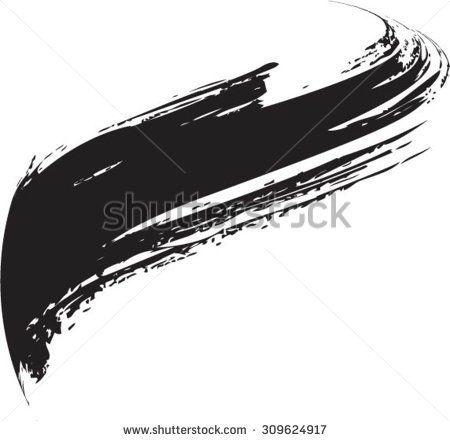 vector grunge paint brush curved brush stroke vector logo design