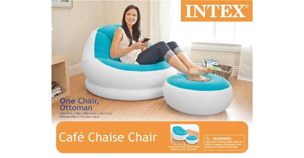 Miraculous Intex Cafe Chaise Chair Inflatable Dorm Lounge Seat With Alphanode Cool Chair Designs And Ideas Alphanodeonline