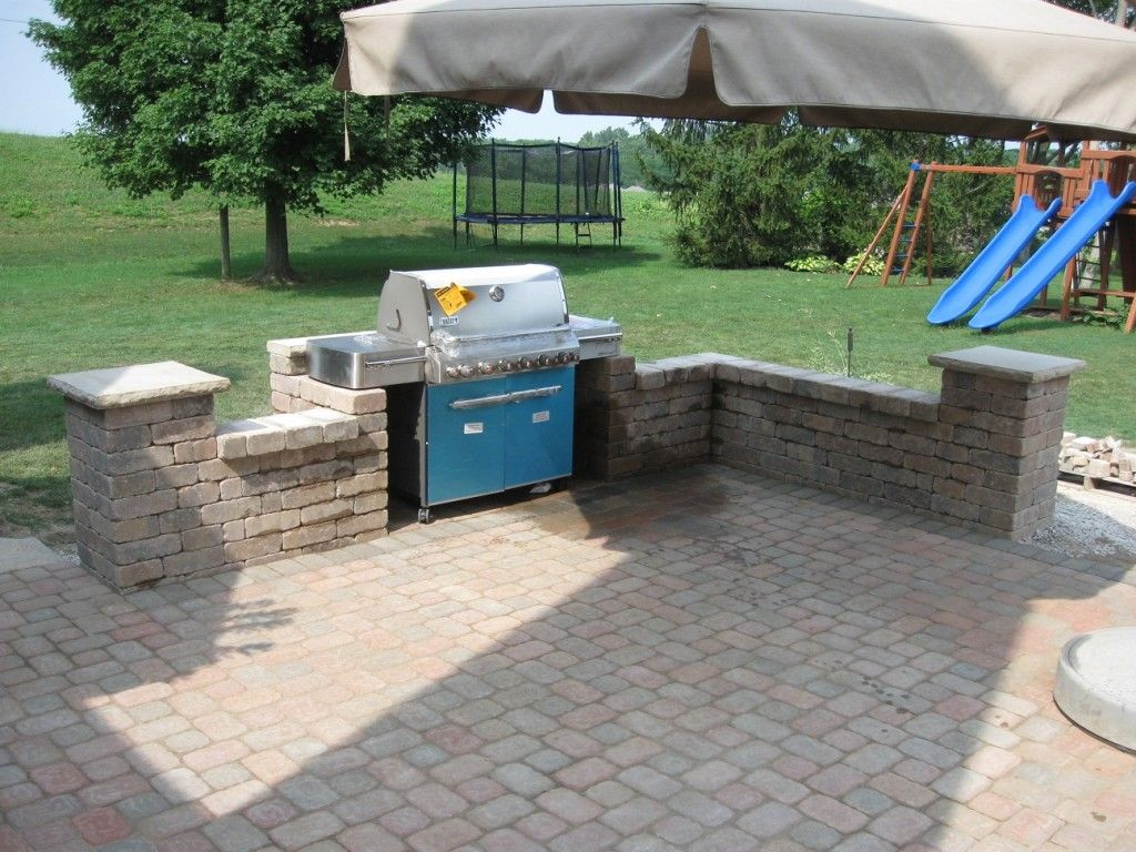 image detail for custom paver patio and outdoor entertainment center with customer - Paver Patio Design Ideas