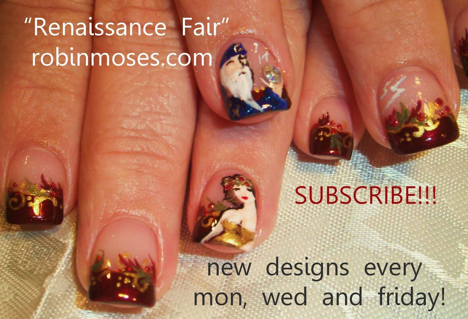 Nail-art by Robin Moses WENCH http://www.youtube.com/watch?v ...