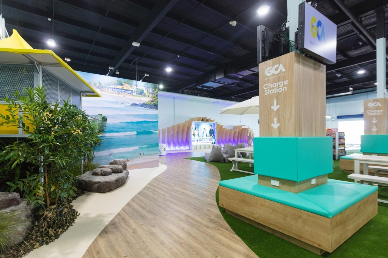 Gold Coast Airport Commonwealth Games Lounge Open Booth
