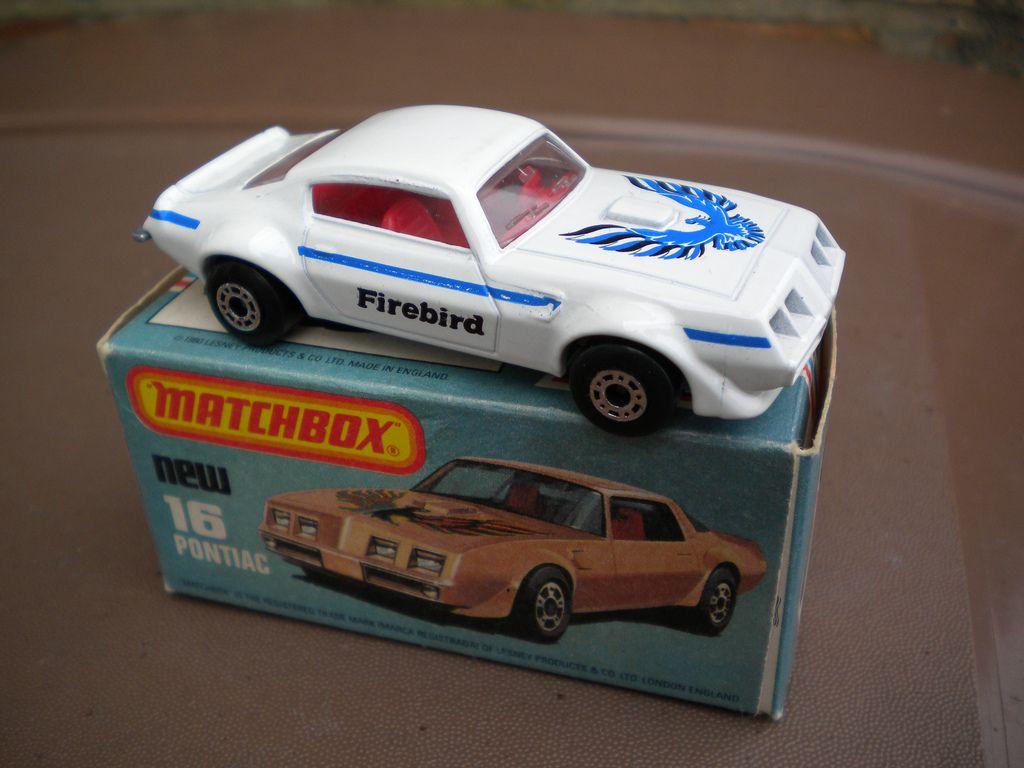 White Matchbox Superfast Pontiac Firebird 1980's Retro Toy