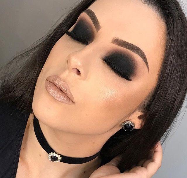24+ Ideias de Maquiagem com Sombra Preta #Maquiagem #Olhos