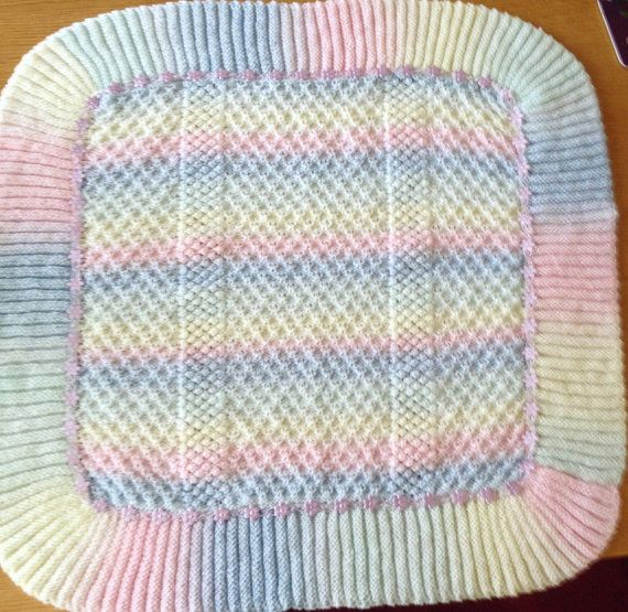 Rainbow Dust baby blanket knitting pattern | Bolsos marca, Manta y ...
