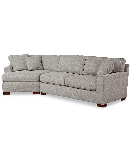 Carena 2 Pc Fabric Sectional Sofa With Cuddler Chaise Created