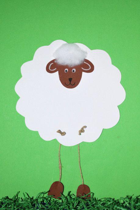 Schafe Basteln Anleitung Vorlage Schafe Basteln Basteln Ideen Ostern Osternest Basteln