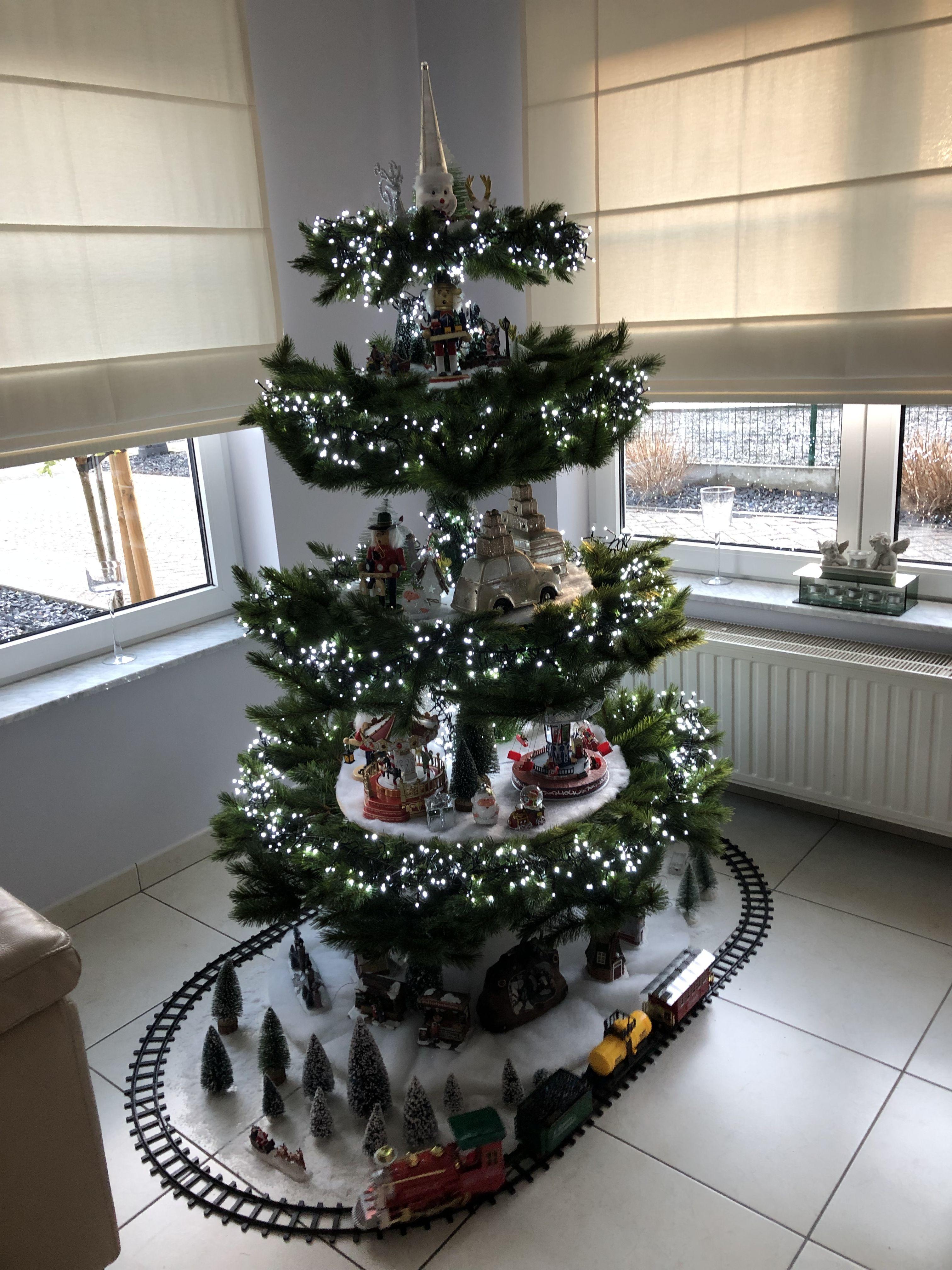 Kerstboom Met Huisjes Breien En Haken Pinterest Kerstmis