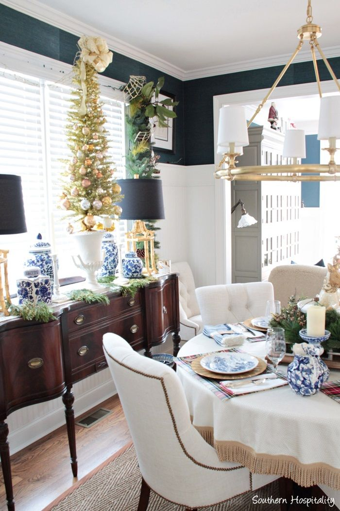 Sparkly Gold Dining Room  Room Dining And Decorating Amusing Blue White Dining Room 2018