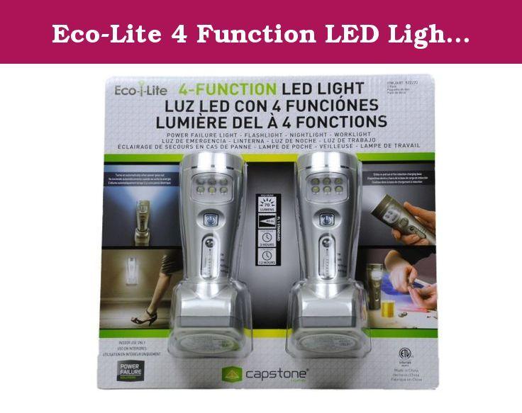 Eco Lite 4 Function Led Lights 2 Pack 70 Lumens 6 Led Nightlight Worklight With Auto Sensor Turns On When Area Gets Dark Nightlight Led Lights Led Lights