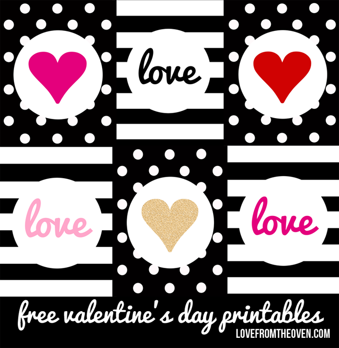 These free Valentine\'s Day printables can be printed off, framed ...