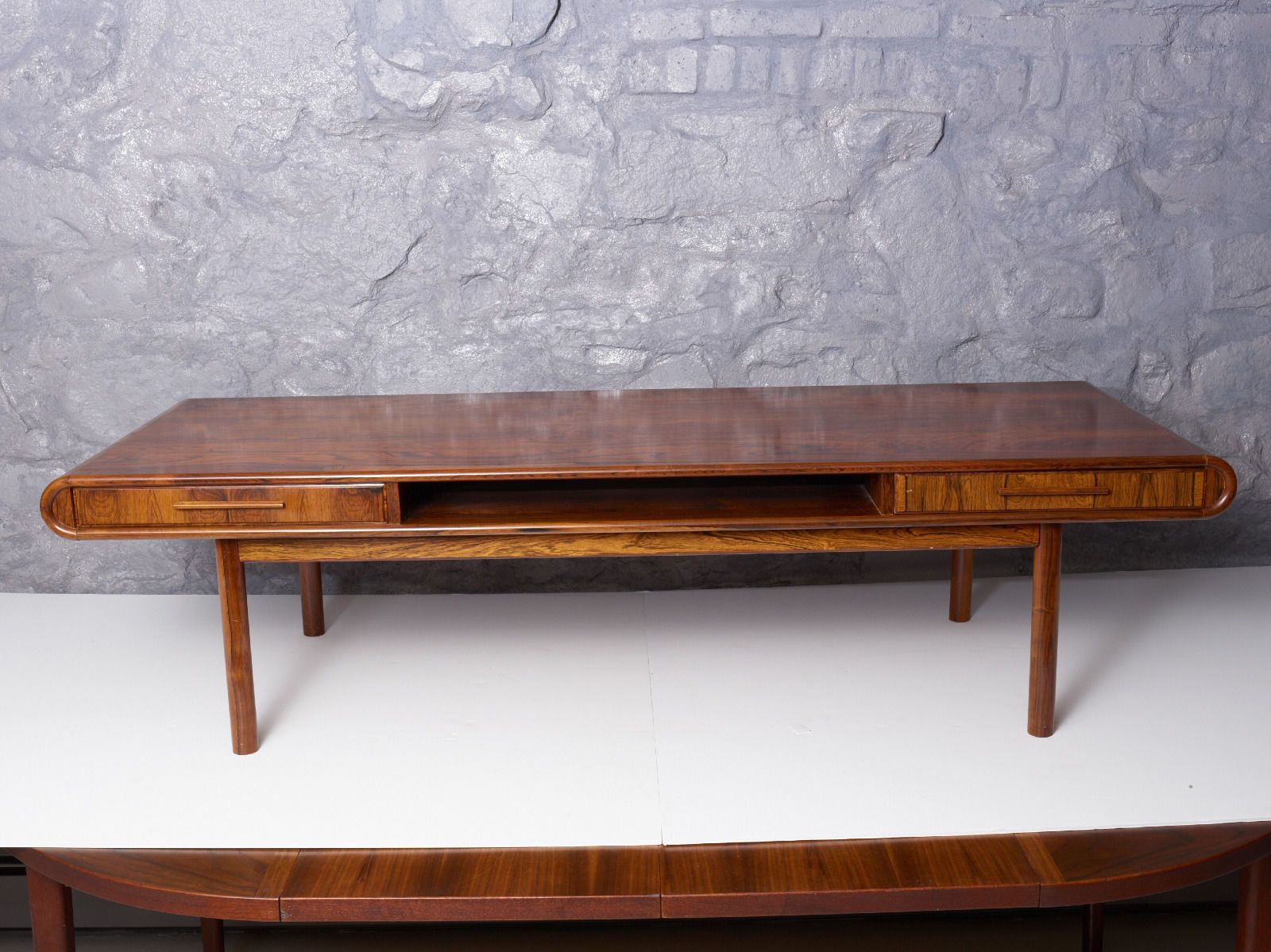 Danish Rosewood Coffee Table With 2 Drawers Very Rare