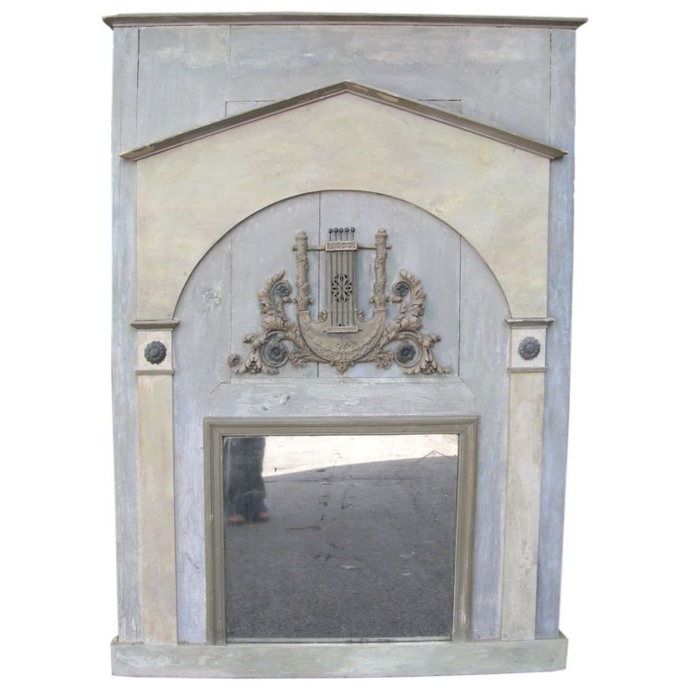 Large French Directoire Trumeau Mirror | 1stdibs.com