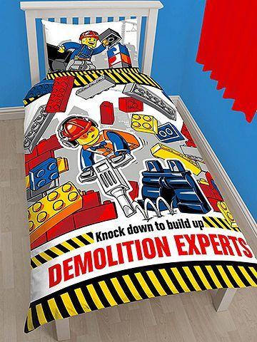 Tesco direct: Lego City Demolition Single Duvet Cover Set ...