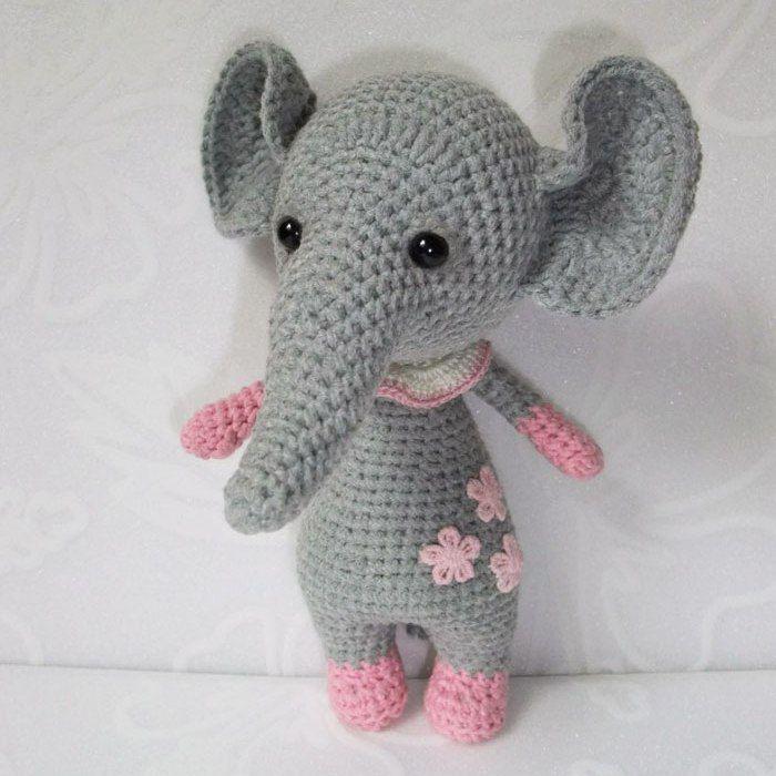 Crochet bebé elefante - patrón amigurumi libre | mono | Pinterest ...