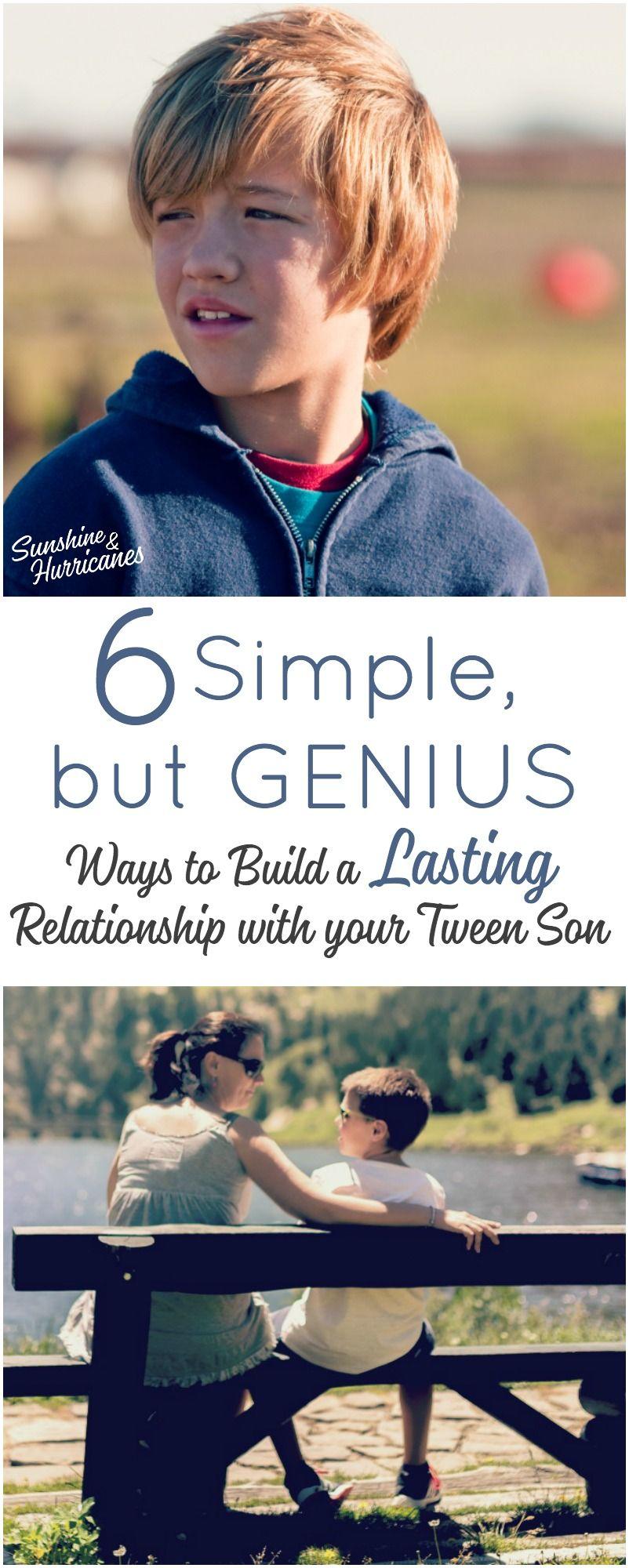 6 Genius Ways To Build a Lasting Relationship w/ Your Tween Son