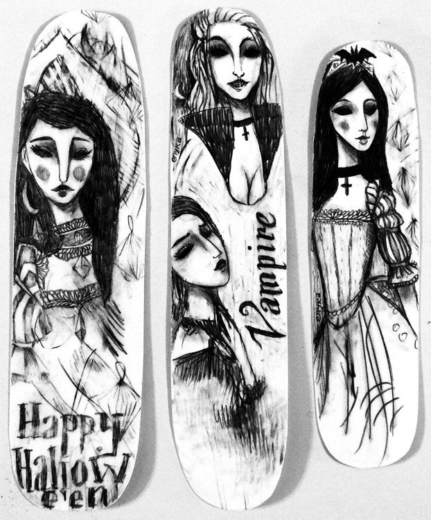 Hallowe'en bookmarks by Enyka Lien . . . . . . . #halloween #bookmarks #blackandwhite #vampire #happyhalloween
