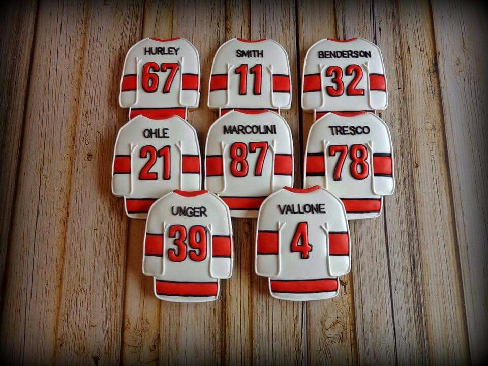 Hockey Jersey Royal Iced Cookies Hockey Cakes Candy Bar Party