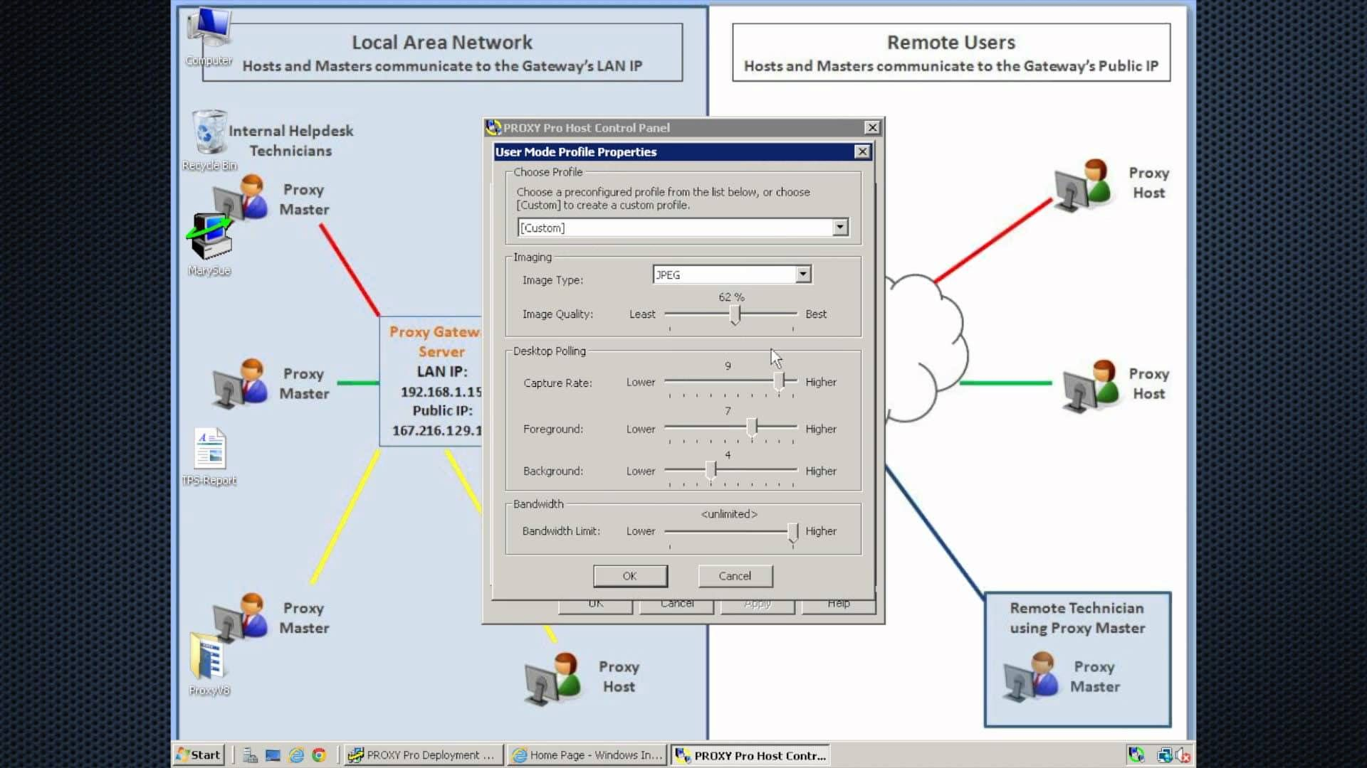 Enter proxy server settings on Mac