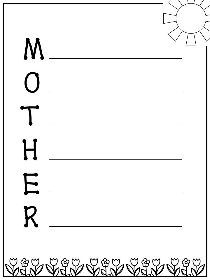 mother 39 s day acrostic poem tpt read and write poems ontario curriculum early literacy. Black Bedroom Furniture Sets. Home Design Ideas