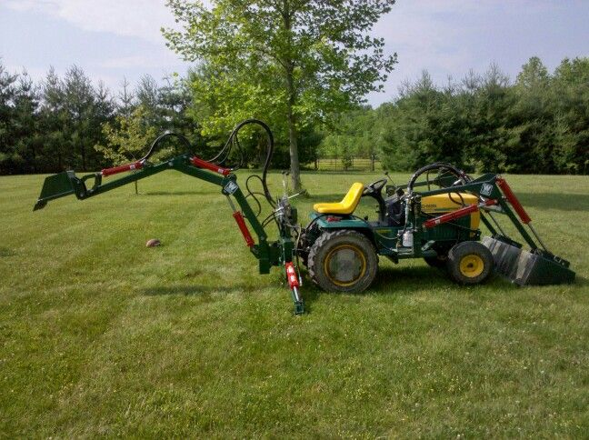 Homemade Front Loader And Backhoe Tractor Idea Garden Tractor Garden Tractor Attachments