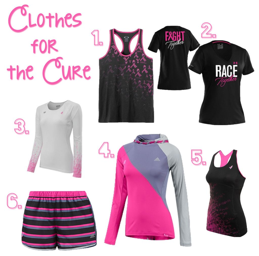 Breast cancer fitness clothing