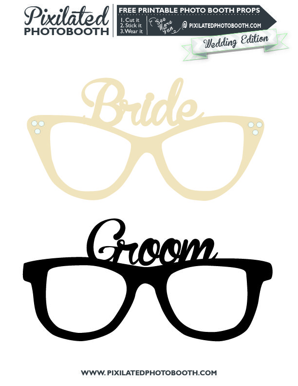 how to make wedding photo booth props